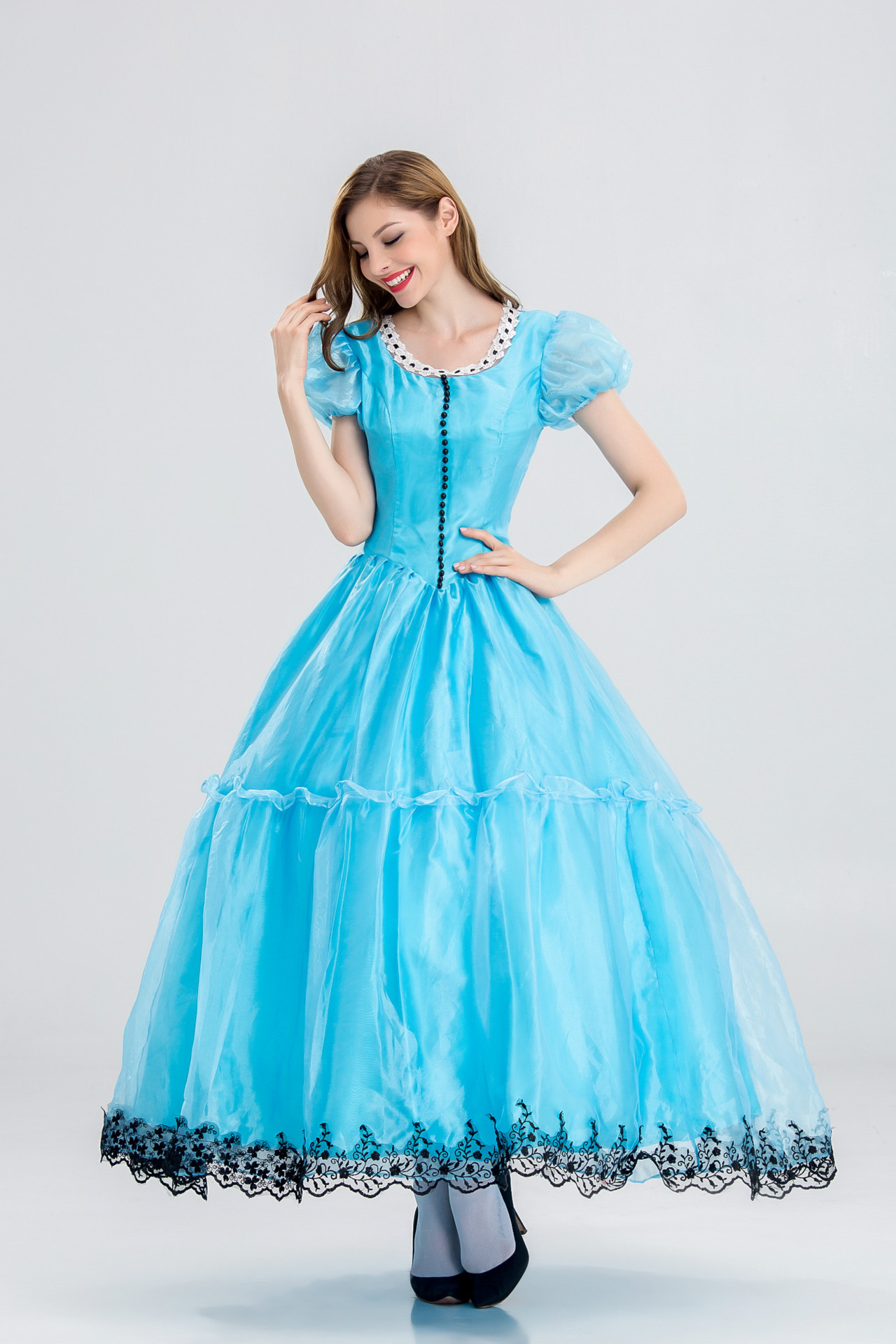 2017 Halloween Cosplay blue Custume for women Party Dress Princess ...