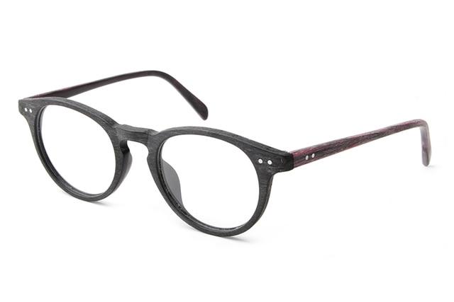 Fashion Round Reading Glasses Frame Acetate Wood Eyeglasses For Women Men Brand Computer Eyewear Frames oculos De Grau TA25992