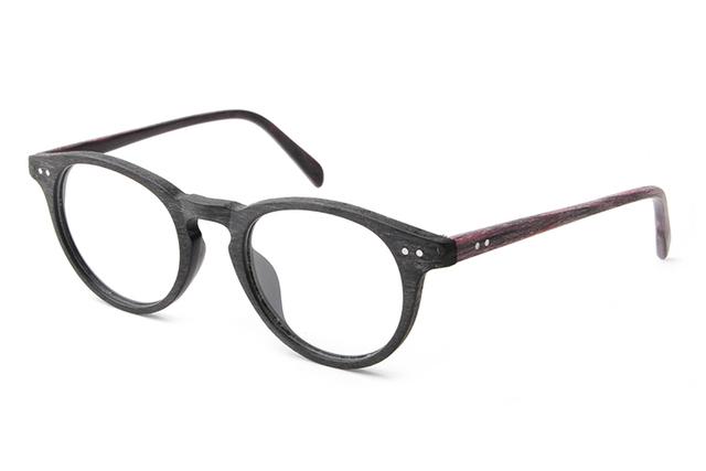 Moda Rodada óculos de Leitura Óculos de Armação De Acetato De Armações de Óculos de Madeira Óculos Para As Mulheres Homens Marca Computador Oculos de grau TA25992