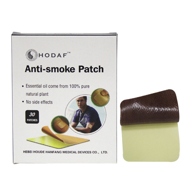 30pcs Natural Auricular Therapy Magnet Stop Smoking Patches Quit Smoke Plaster Smoking Cessation Nicotine Patch Cigarettes