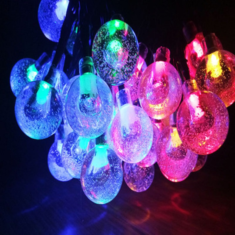 30 LED Bubble Ball Spirit Solar Lamp Kushi Taiyunn Lightball Colored Lamp Seiko Lights Christmas lights Worm and lovely 20 led bubble ball shaped christmas tree string lights decorated colored lamp