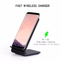 UVR Qi Wireless Charger with Receiver Luxury ABS Plastic Quick Charge Phone holder & dock Charger For iphone 7 6 X samsung s7 s8