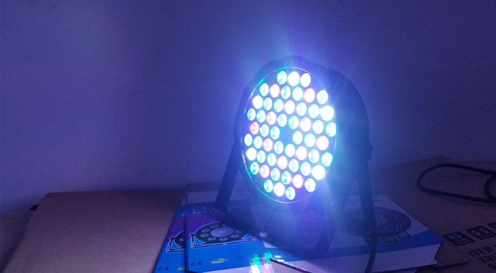 LED par DJ Par LED 4in1 RGBW /Cold white/Warm White/UV 54X3W LED par Motherboard Wash Disco Light DMX Controller Free Shipping
