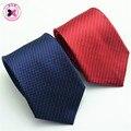Brand Fashion Design New Men's Blue Ties Silk Corbata Plaid Necktie Striped Bow Tie Men Neckwear Casual Knitted Men Gravata