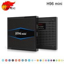 Newest H96 mini Android 7.1 Amlogic S905W Quad Core 2GB 16GB ROM BT4.0 H.265 HEVC 4K&2K android tv box 1080P HD media Play