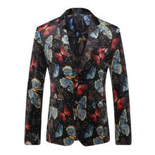 Blazer Men 2016 Men's Fashion Catwalk Suit Jacket Europe And America Suit Male Single-breasted Single Button Slim Big Yards Men