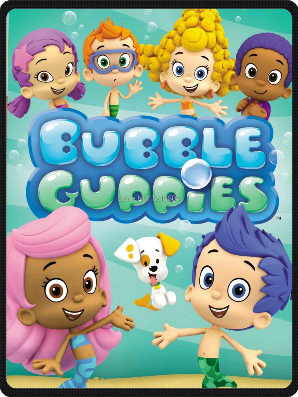 diy fleece blanket bubble guppies printed for 58
