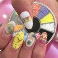 12 doces colorem 1.5 mm partículas unhas de acrílico Beads roda Glitter Manicure Tips para encantos 3D decorações Nail Art