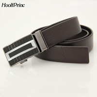 HooltPrinc Genuine Leather Male Belt New Designer Automatic Real Leather Belt High Quality Luxury Trousers Pants