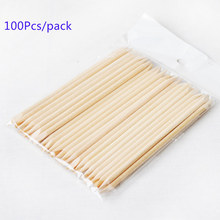 100X Nail Art Design Orange Wood Stick Cuticle Pusher Remover Manicure Care wooden sticks 100pcs