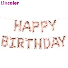 Lincaier 16 дюймов фольгированные шары «С Днем Рождения» для маленьких мальчиков и девочек первый день рождения 1st One вечерние украшения гирлянды для детей и взрослых