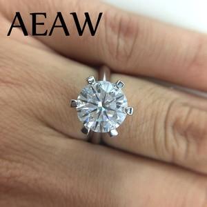 Image 4 - Женское кольцо из серебра 925 пробы, с муассанитом
