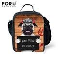 Cão mau Térmica Duplas Lunch Bag para As Mulheres Homens Meninos Meninas Caixa de Isolamento Almoço Crianças Lunchcase Alimento Do Piquenique Lancheira Cooler