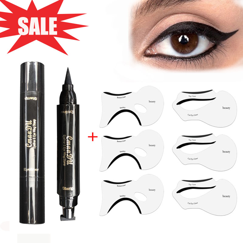 photo about Printable Eyeliner Stencil called best 9 greatest notable the cat eye stencil companies and take cost-free