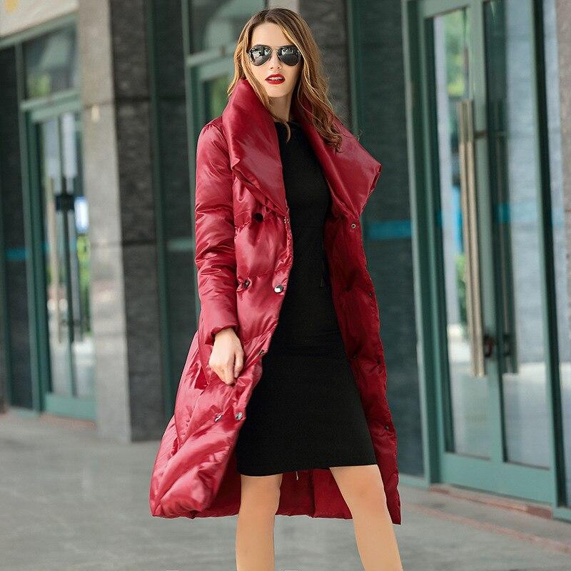 Manteau Épaisse Hiver Canard Long Taille grey En 2xl Plus dark red Femmes Récent Duvet 2017 Remplissage Femme Green De Doudoune Black Blanc ZYgq8Ewx