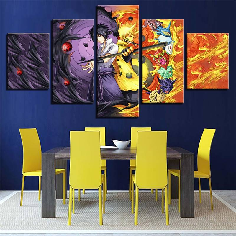 Module Poster Mural Art Pictures Canvas 5 Panels Seven Dragon Ball ...