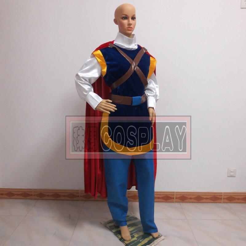 Snow White Prince Cosplay Costume Men'