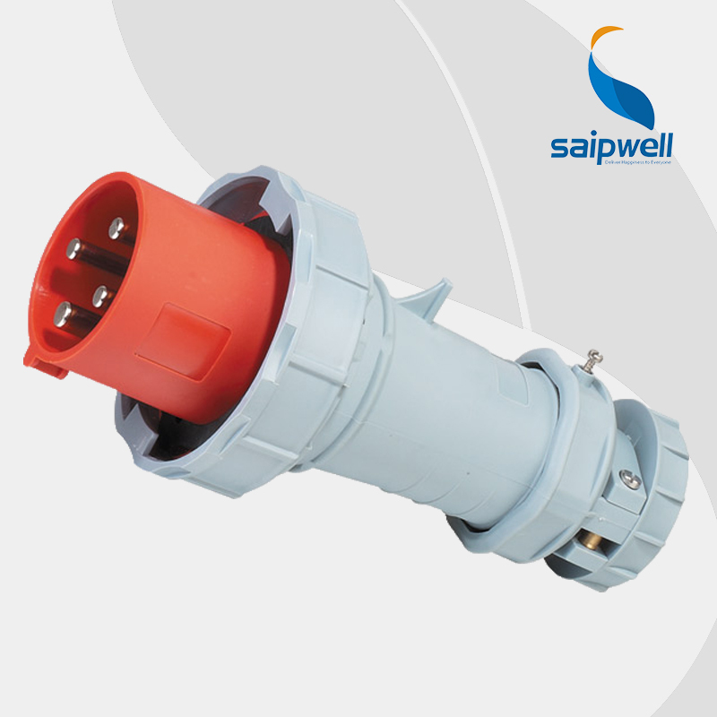 63A 400V 4P (3P+E) 63 amp 4 pin cee industrial plug EN / IEC 60309-2 4-pin Power IP67 Splash Proof ac adapter Type SP1110