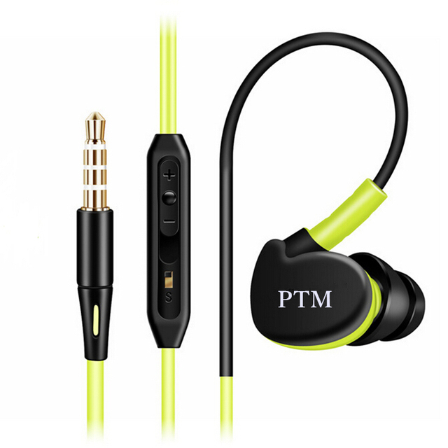 PTM S800 3.5mm Plug Earphones Headphone Headset with Microphone Bass and Stereo Sport Earbuds Handsfree for Mobole Phone MP3 MP4