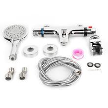 3Pcs/set Thermostatic Shower Faucet Kit Handheld Head Set Bathroom Spray Hose G1/2  pommeau de douche