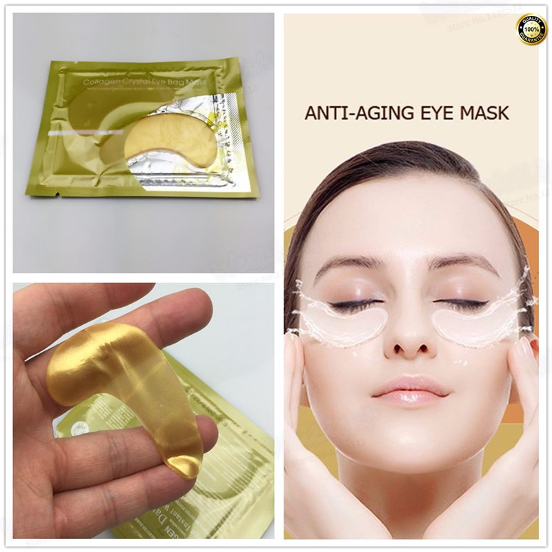 High quality Honey collagen Gold Crystal Eye Mask 2Pcs/Pack Hotsale eye patches 2pcs=1pack