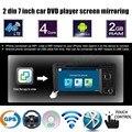 Controle da roda de direcção 7 Polegada 2 din Android 6.0 DVD Do Carro Jogador de rádio GPS Para A/udi A3 S3 2002-2011 tela espelhamento WI-FI