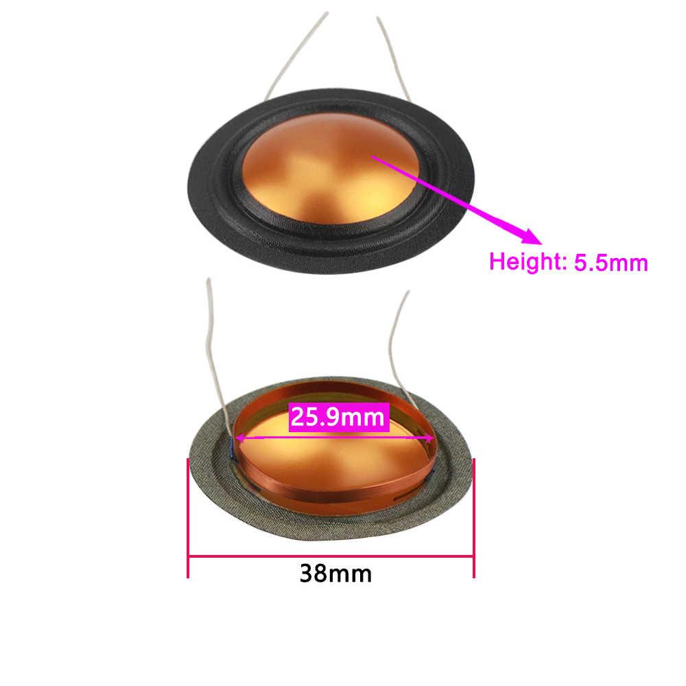 Ghxamp 25.9mm 4ohm wysokotonowy cewka drgająca jedwab + membrana tytanowa Treble naprawa części tej samej strony okrągły drut miedziany 1 pary