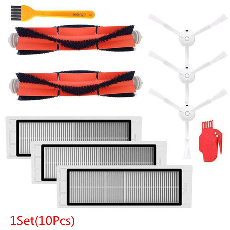 Hot Sale Accessories Kit for XIAOMI MI Robot Vacuum Replacement Parts 3 Pcs Side Brush 3 Pcs HEPA Filter 2 Pcs Main Brush vsen hot styleluggage bag replacement plastic 1 side rectangle buckle 10 pcs