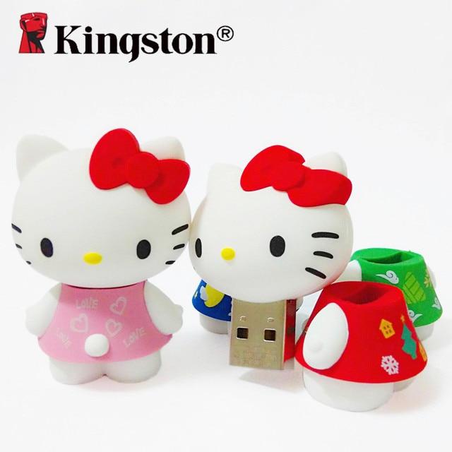 Kingston Limited Edition 2.0 usb hello kitty cute pen drive cartoon usb 16 gb pendrive