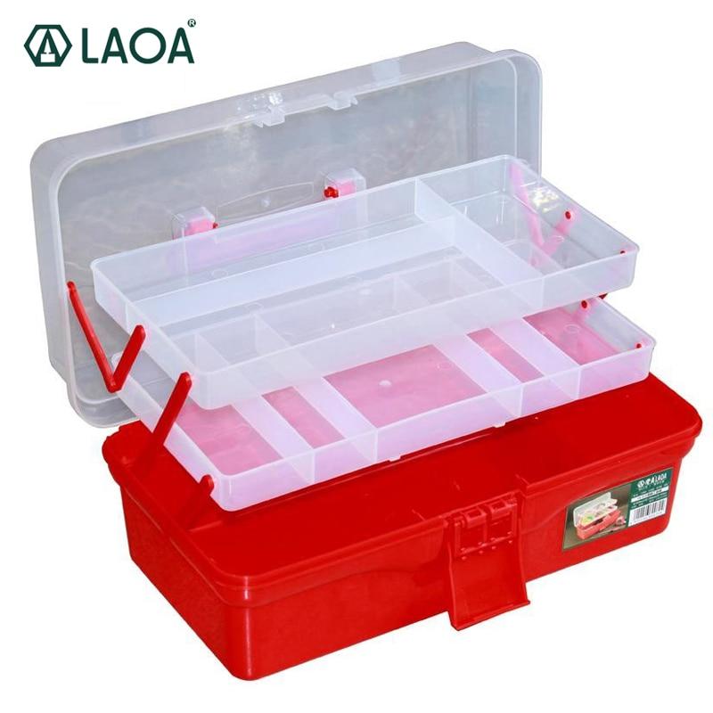 2pcs LAOA  Medicine Cabinet Folded Tool Box Work-box Foldable Toolbox Manicure Kit Workbin For Storage