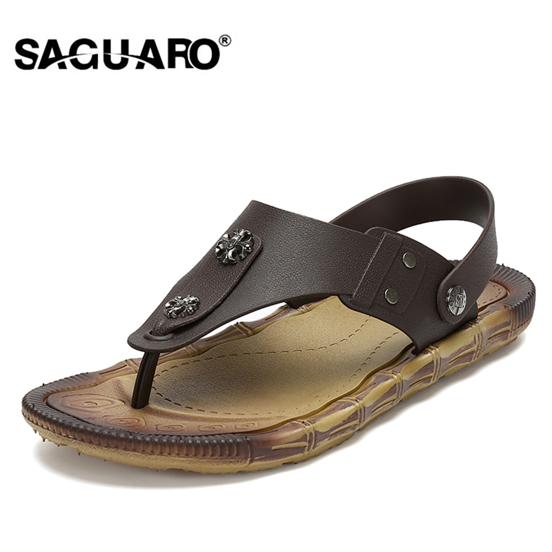 SAGUARO Men Sandals 2017 New Summer Fashion Beach Slippers Brand - Men's Shoes