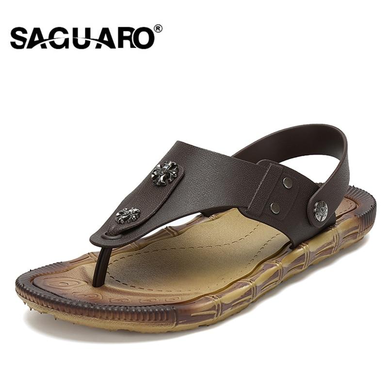 SAGUARO Hombres Sandalias 2017 Nuevo Verano Zapatillas de Playa de - Zapatos de hombre
