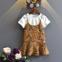 Summer Kids Girls Clothes Sets Short Sleeve Fashion Children S Dress Sets Baby Girl White T