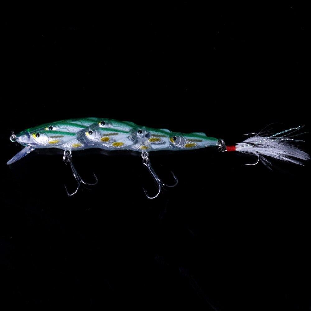 5 pçs minnow isca de pesca iscas