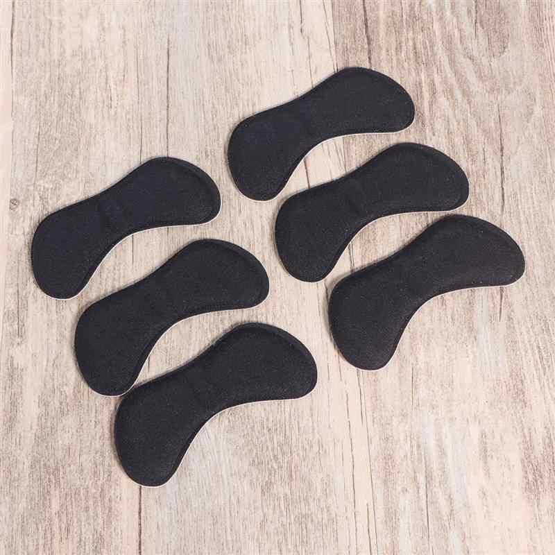 6 пар самоклеющиеся накладки на пятку, накладки, вкладыши в форме бабочки, губка, задняя подушечка на пятку для высоких каблуках (черный и абрикосовый)