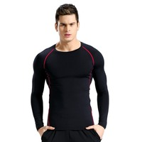 2017 Quick Dry Men's Fitness Long Sleeve Compression T Shirt Men's Bodybuilding Sport Trainning T-shirts New