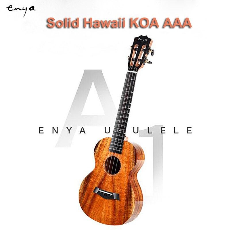 Enya ukulélé concert ténor 23 pouces 26 pouces tout bois massif Hawaii KOA AAA Ukelele 4 cordes petite mini guitare instruments de musique