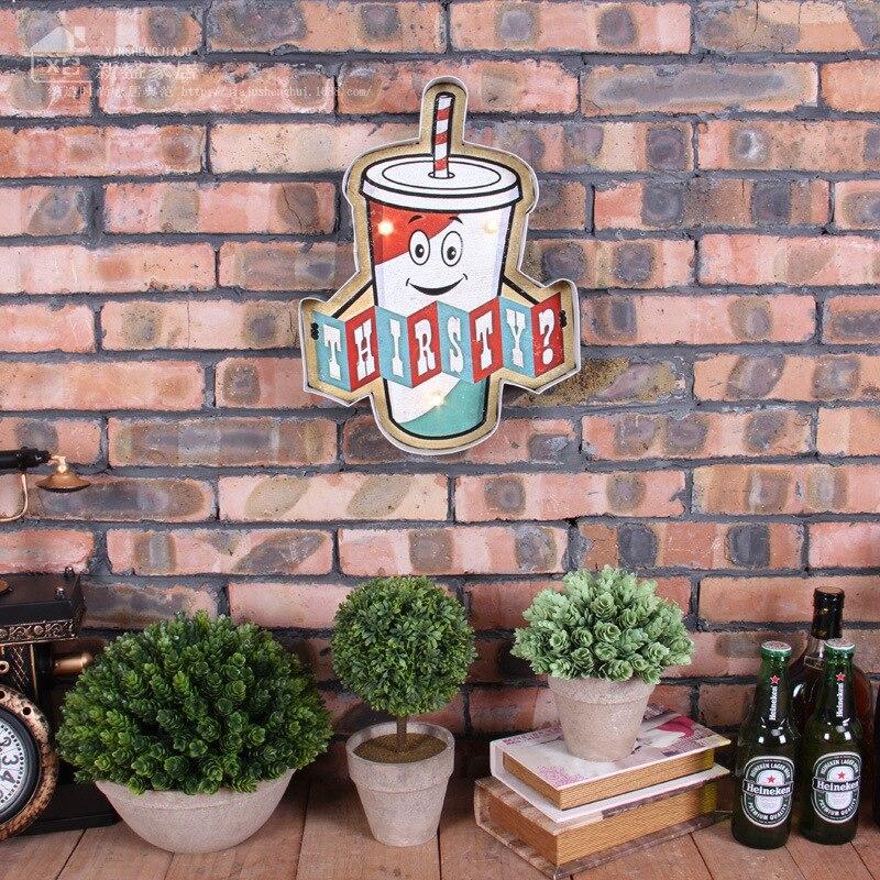 Vintage LED Neon Sign Vintage Home Decor Light Box Beer Cerveja Bar Cafe Brass knuckles weapon Shabby chic Placa Decorativa