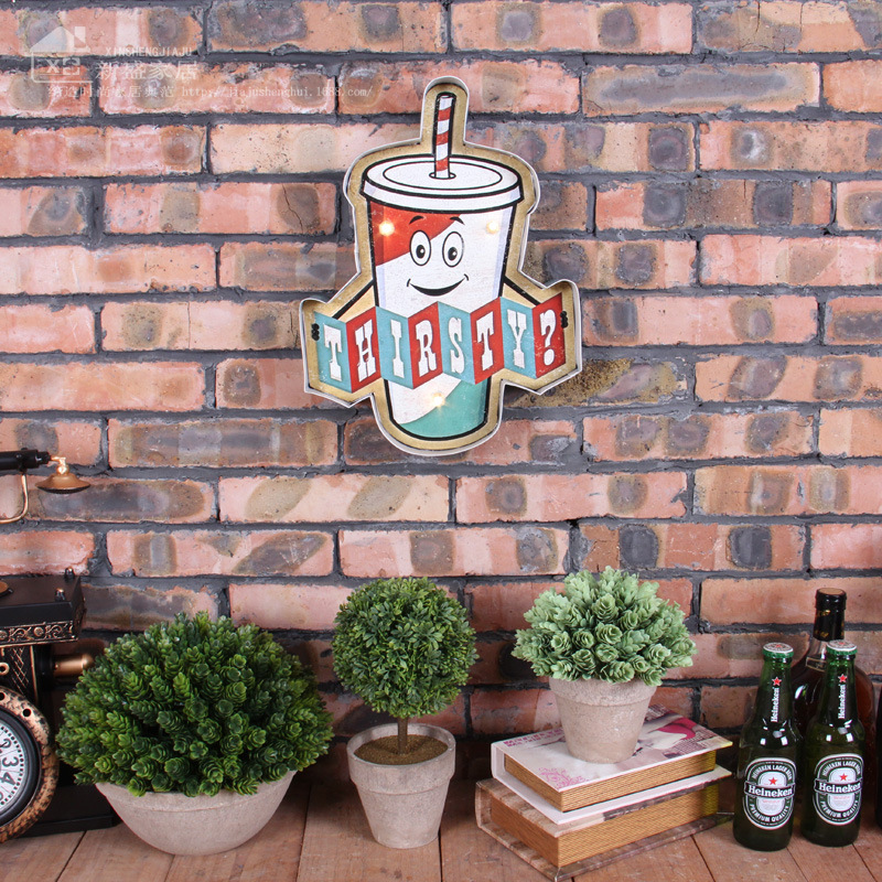Vintage LED Neon Sign Vintage Home Decor Light Box Beer Cerveja Bar Cafe Brass knuckles weapon Shabby chic Placa Decorativa