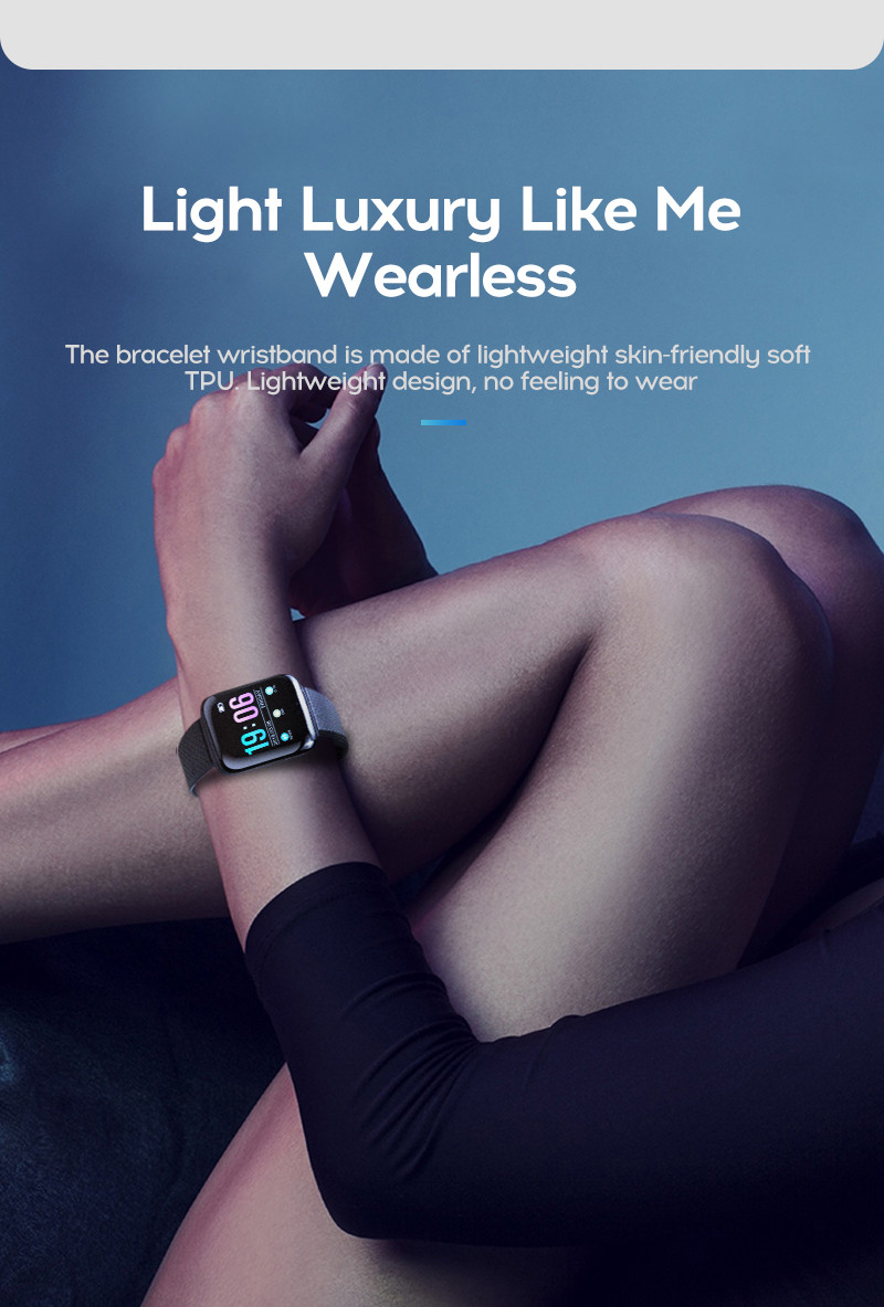 LYKRY A6S Smart Bracelet Fitness Tracker Heart Rate Blood Pressure Monitor Smart Band IP67 Waterproof Sports For Android IOS+Box (10)