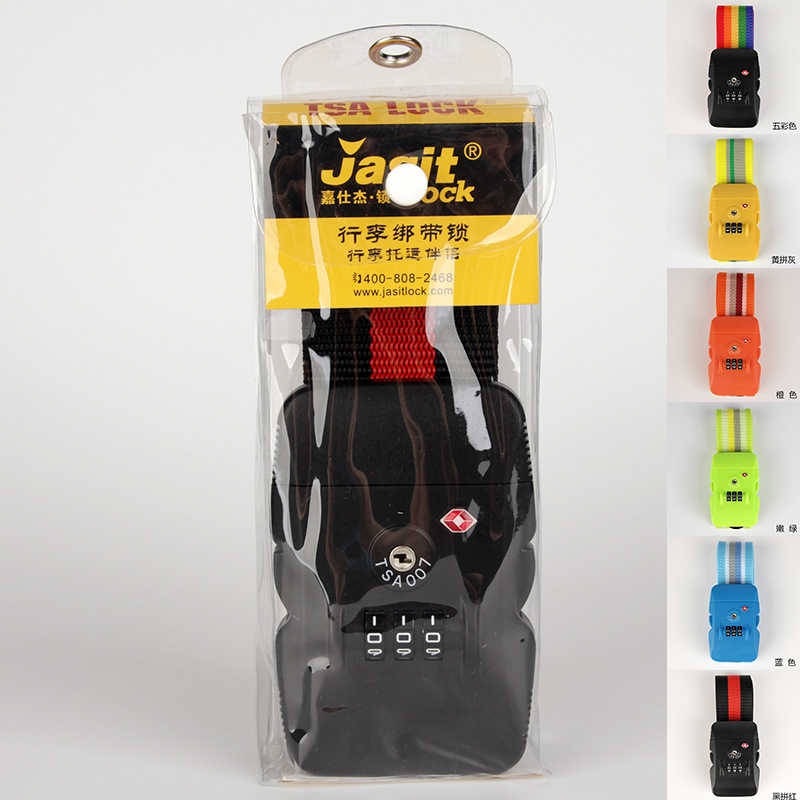 3-Dial TSA Approved Luggage Straps Locking Suitcases Strap Security Lock Travel Strap Suitcase Baggage Bag Belt