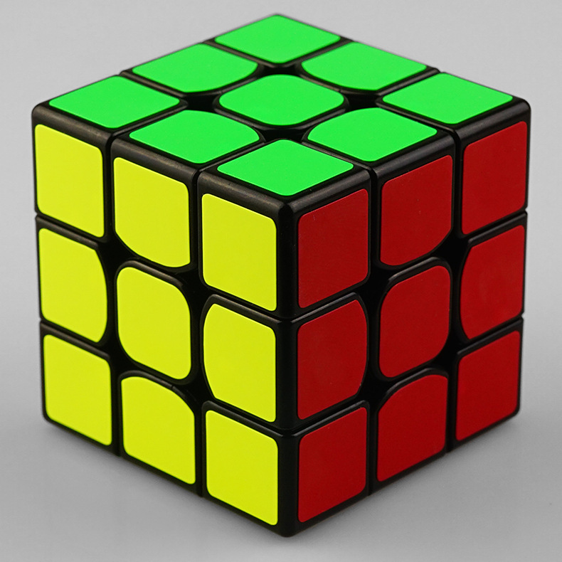 Clasic colorat 3x3x3 Trei straturi Magic Cube Profisional - Jocuri și puzzle-uri - Fotografie 5