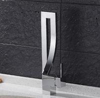 Elegant Chrome Black Brass Bathroom Square Basin Faucet Luxury Sink Mixer Tap Deck Mounted Hot And