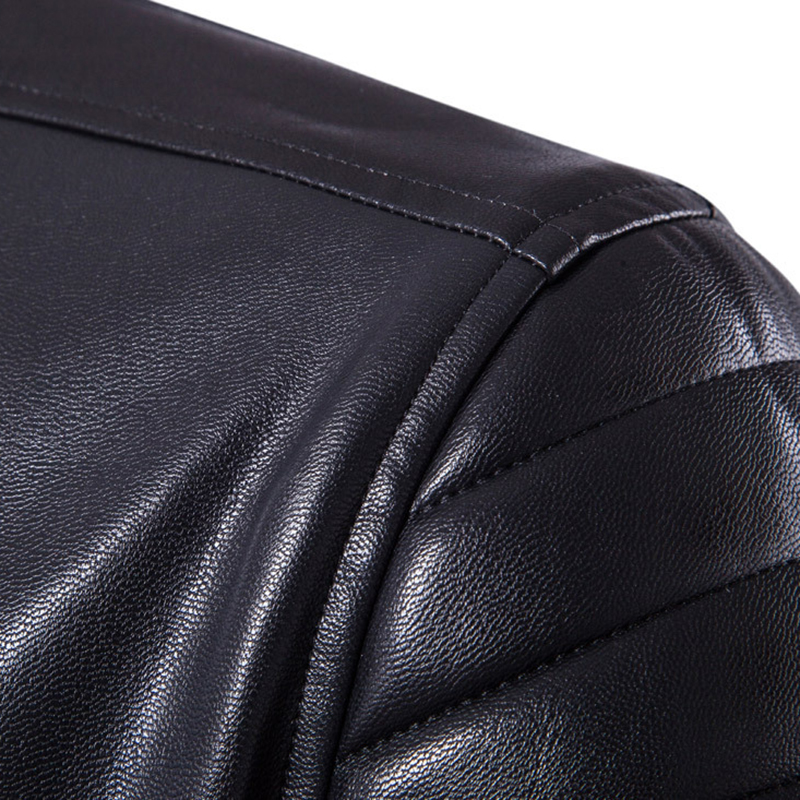 Image 5 - Puff sleeve business casual leather coat New winter Fashion leather jackets slim fit Men Classic leather jacket M 5XL size-in Faux Leather Coats from Men's Clothing
