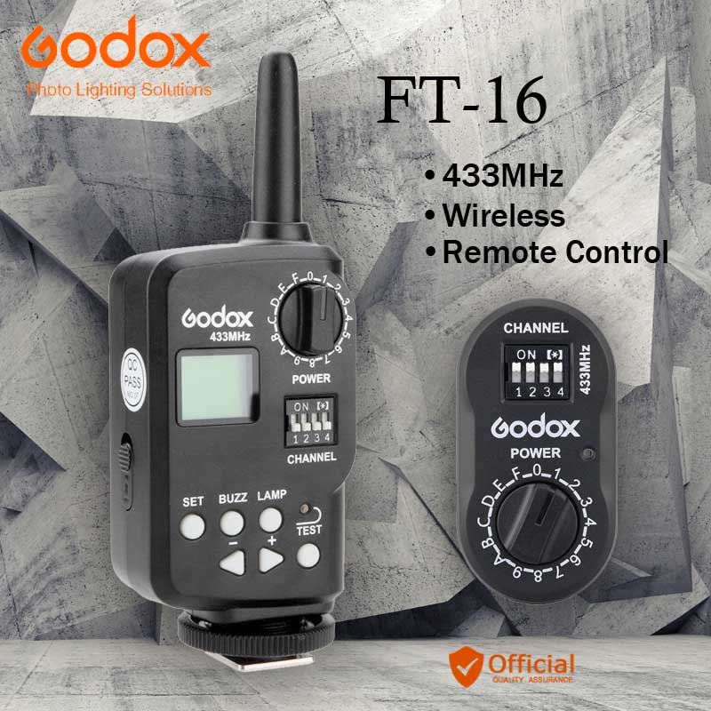 <font><b>Godox</b></font> FT-16 Wireless Power Remote Controller Flash Strobe Trigger for AD-360 AD-180 DE300 DE400 SK300 SK400 QT600 E250 <font><b>E300</b></font> image
