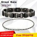 Noproblem P098+P061 titanium balance ion bracelet necklace combo