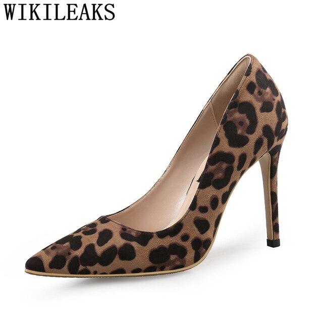 10fb6ce5b077 Sexy sapatos de casamento mulher bombas dos saltos altos mulheres sapatos  de leopardo sapatos de salto
