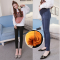 2016 Winter Velvet Pregnant Women Clothes Plus Velvet Thickening Pants Warm Pregnancy Women Clothing Maternity High Waist Pants
