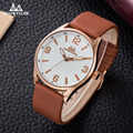 Fashion rose gold male watch genuine leather quartz watch waterproof Miyota movement man watch classic quartz watch for men