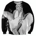 Винтажный стиль 3D толстовка сексуальная Мэрилин Монро в белом платье классический образец HD печати толстовки падение корабля
